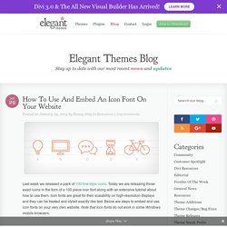 How To Use And Embed An Icon Font On Your Website