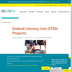 Embed Literacy into STEM Projects