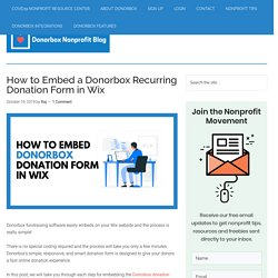 How to Embed a Recurring Donation Form in Wix