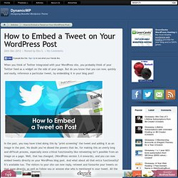 How to Embed a Tweet on Your WordPress Post