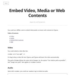 Embed Video, Media or Web Contents