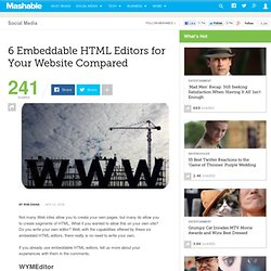 6 Embeddable HTML Editors for Your Website Compared