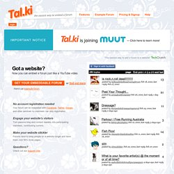Tal.ki - The easiest way to embed a forum