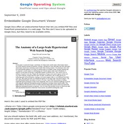 Embeddable Google Document Viewer