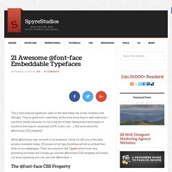 How To Use @font-face In CSS And 21 Great Typefaces