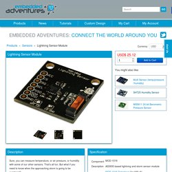 Embedded Adventures - Products - MOD-1016 AS3935 Lightning and Storm Sensor Module