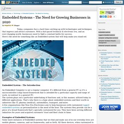 Embedded Systems - The Need for Growing Businesses in 2020 by Angelica M.