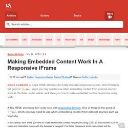 Making Embedded Content Work In Responsive Design – Smashing Magazine