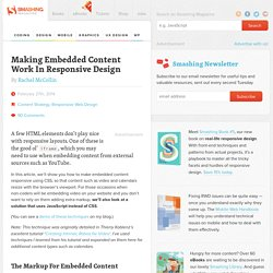 Making Embedded Content Work In Responsive Design