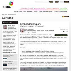 Embedded Inquiry