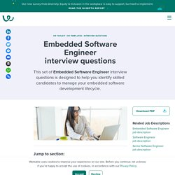 Embedded Software Engineer Interview Questions