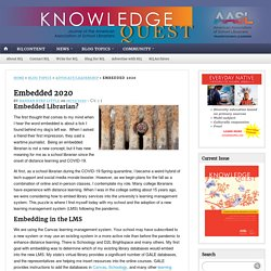 Embedded School Librarian's Role in Distance Learning