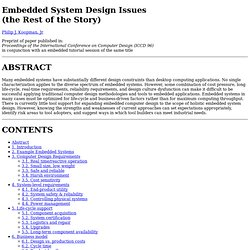 Embedded System Design Issues (the Rest of the Story) - Waterfox