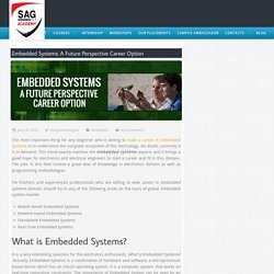Embedded System: A Future Perspective Career Option