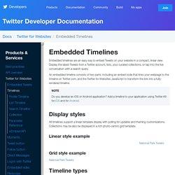Embedded Timelines