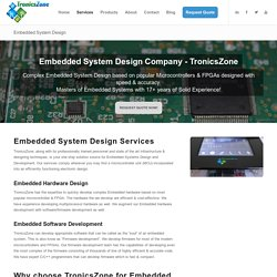 Embedded System Design - #1 Trusted Embedded Systems Experts