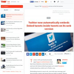 Embedded Tweets Now Visibile on Twitter.com