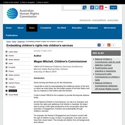Embedding children's rights into children's services
