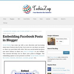 Embedding Facebook Posts in Blogger