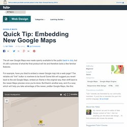 Embedding New Google Maps