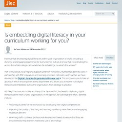 Is embedding digital literacy in your curriculum working for you?