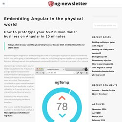 Embedding Angular in the physical world