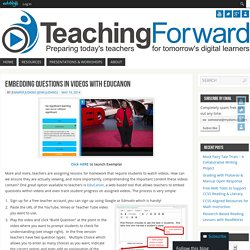 » Blog Archive » Embedding Questions in Videos with EduCanon
