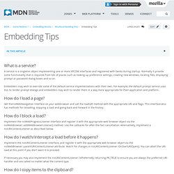 Embedding FAQ:How do I... - MDC