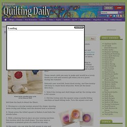 Embellish a Card with Felted Shells - Quilting Daily