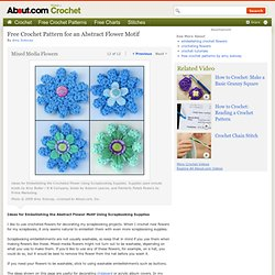 Mixed Media Flowers - Embellishing the Flower Using Scrapbooking Supplies