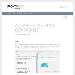 An Ember JS Gauge Component