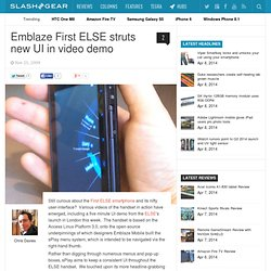 Emblaze First ELSE struts new UI in video demo