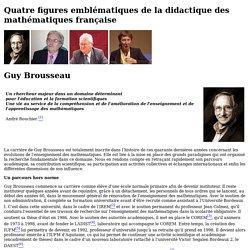 Quatre figures emblématiques de la didactique des mathématiques française