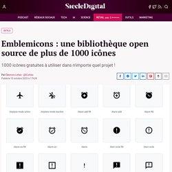 Emblemicons : une bibliothèque open source de plus de 1000 icônes