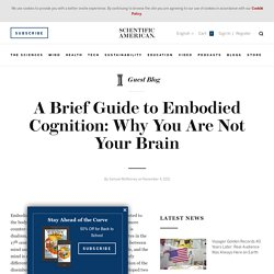 A Brief Guide to Embodied Cognition: Why You Are Not Your Brain | Guest Blog