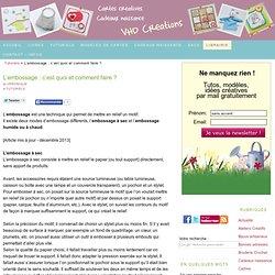 L'embossage : c'est quoi et comment faire ? - VHD Créations - cartes faire-part cadeaux naissance - VHD Créations