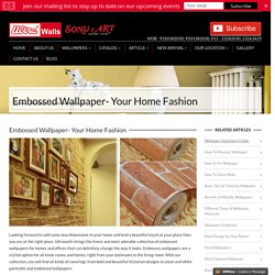 Embossed Wallpaper, Best Designs Embossed Wallpaper