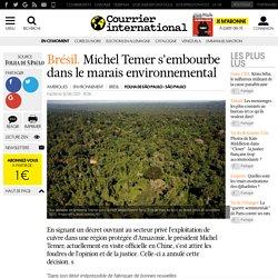 Brésil. Michel Temer s'embourbe dans le marais environnemental