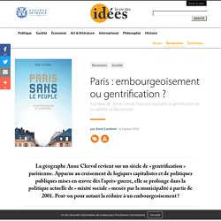 Paris : embourgeoisement ou gentrification