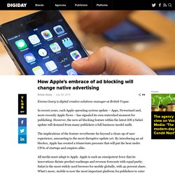 How Apple's embrace of ad blocking will change native advertising