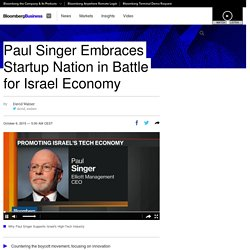 Paul Singer Embraces Startup Nation in Battle for Israel Economy