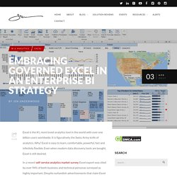 Embracing Governed Excel in an Enterprise BI Strategy - Analytics Industry Blog