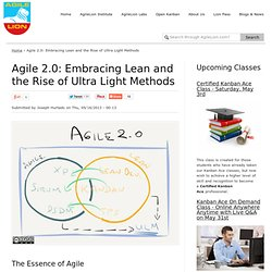 Agile 2.0: Embracing Lean and the Rise of Ultra Light Methods