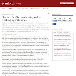 faculty is embracing online teaching opportunities