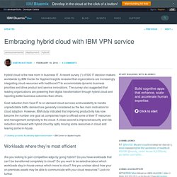 Embracing hybrid cloud with IBM VPN service - Bluemix Blog