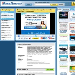 technical support phone number PowerPoint presentation