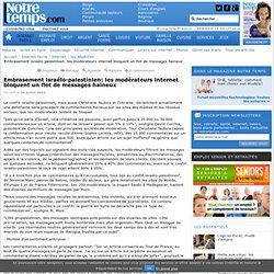 Sociétés de modération pour les médias (Article lors du conflit israélo-palestinien)