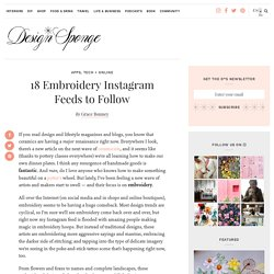18 Embroidery Instagram Feeds to Follow – Design*Sponge
