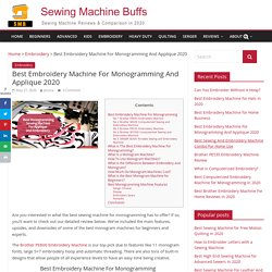 How to choose an embroidery sewing machine