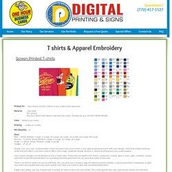 Digital Apparel - T-Shirt Embroidery Printing - Alpharetta GA